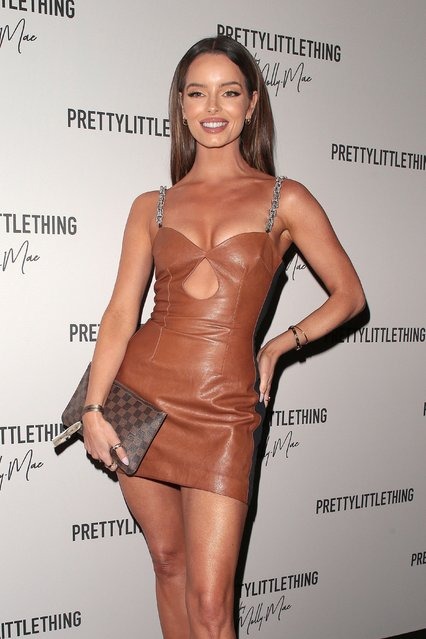 UK Love Island star Maura Higgins seen attending PrettyLittleThing by Molly Mae – launch party at Novikov on August 26, 2021 in London, England. (Photo by Ricky Vigil M/GC Images)