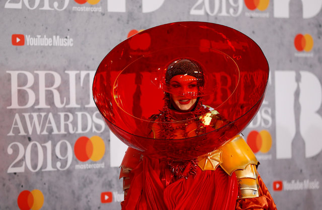 Daniel Lismore arrives for the Brit Awards at the O2 Arena in London, Britain, February 20, 2019. (Photo by Peter Nicholls/Reuters)