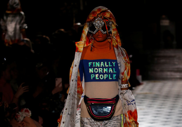 A model presents a creation by Indian designer Manish Arora as part of his Fall/Winter 2019-2020 women's ready-to-wear collection during Paris Fashion Week in Paris, France, February 28, 2019. (Photo by Regis Duvignau/Reuters)