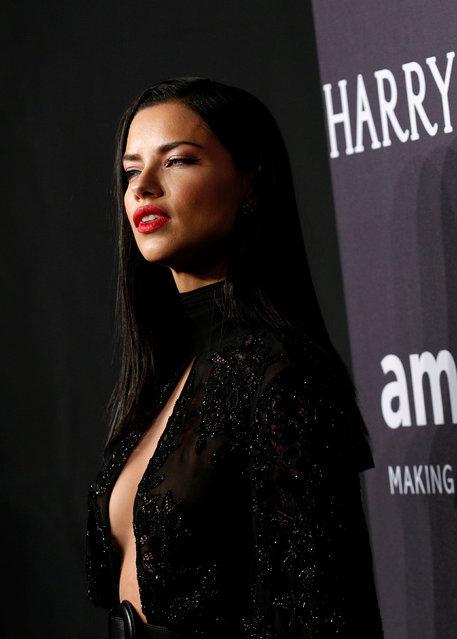 Adriana Lima arrives for amfAR's Annual Fashion Week New York Gala in New York City, U.S., February 8, 2017. (Photo by Brendan McDermid/Reuters)