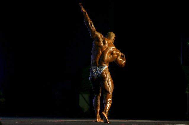 U.S bodybuilder Juan Morel poses during the Arnold Classic Brazil 2015 in Rio de Janeiro, May 30, 2015. REUTERS/Ricardo Moraes