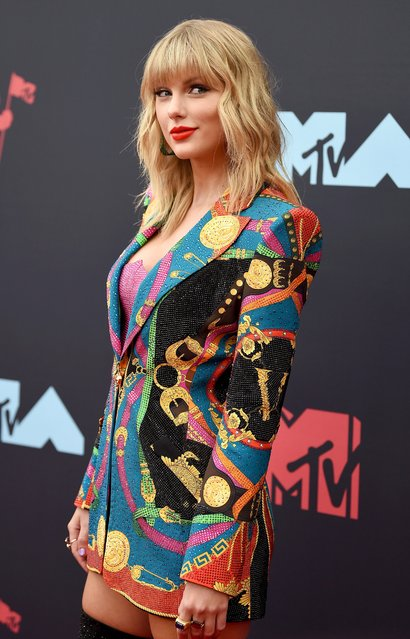 Taylor Swift attends the 2019 MTV Video Music Awards at Prudential Center on August 26, 2019 in Newark, New Jersey. (Photo by Dimitrios Kambouris/Getty Images)