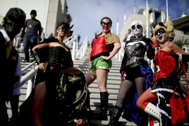 Cosplay attendees show their costumes at the 2015 Comic-Con International in San Diego, California, July 9, 2015. (Photo by Sandy Huffaker/Reuters)