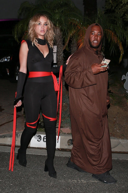 s*xy Jasmine Sanders attends Paris Hilton's Halloween party in Beverly Hills, CA. on October 24, 2019. (Photo by NGRE/Backgrid USA)
