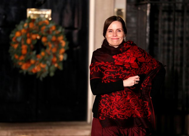 Iceland's Prime Minister Katrin Jakobsdottir leaves Downing Street after attending a reception in Watford, in London, December 3, 2019. (Photo by Alastair Grant/Pool via Reuters)