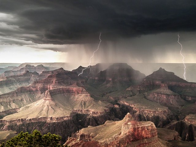 The Travel Photographer of the Year exhibit showcase the finest images from one of the world's most prestigious photography competitions. Seen here: Powell Point, Grand Canyon South Rim, Arizona, USA. (Photo by Gerald Baeck)