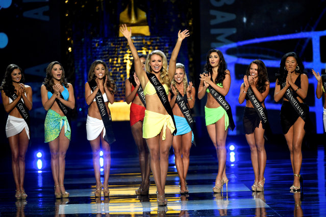 Miss Alabama Jessica Procter advances from the swimsuit component of the 97th Miss America Competition in Atlantic City, New Jersey U.S. September 10, 2017. (Photo by Mark Makela/Reuters)
