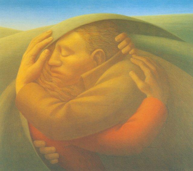 Embrace III. Artwork by George Tooker