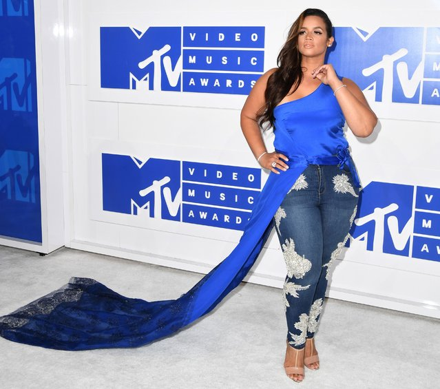 Actress Dascha Polanco attends the 2016 MTV Video Music Awards on August 28, 2016 at Madison Square Garden in New York. (Photo by Angela Weiss/AFP Photo)