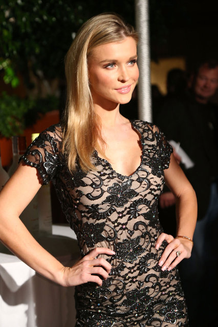 Joanna Krupa attends the Voli Lights Vodka benefit at SkyBar at the Mondrian Los Angeles on December 6, 2012 in West Hollywood, California. (Photo by Noel Vasquez)
