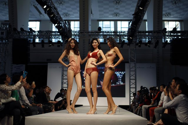 Models present a lingerie show during Shanghai Mode Lingerie Exhibition in Shanghai October 20, 2014. (Photo by Aly Song/Reuters)