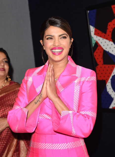 "Priyanka Chopra attends the ""Pahuna: The Little Visitors"" premiere during the 2017 Toronto International Film Festival at Scotiabank Theatre on September 7, 2017 in Toronto, Canada. (Photo by J. Merritt/WireImage)"