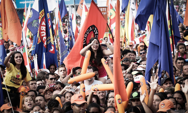 Members of various labour unions take part in the traditional May Day rally in Sao Paulo, Brazil, on May 1, 2013. (Photo by Caio Kenji/G1)