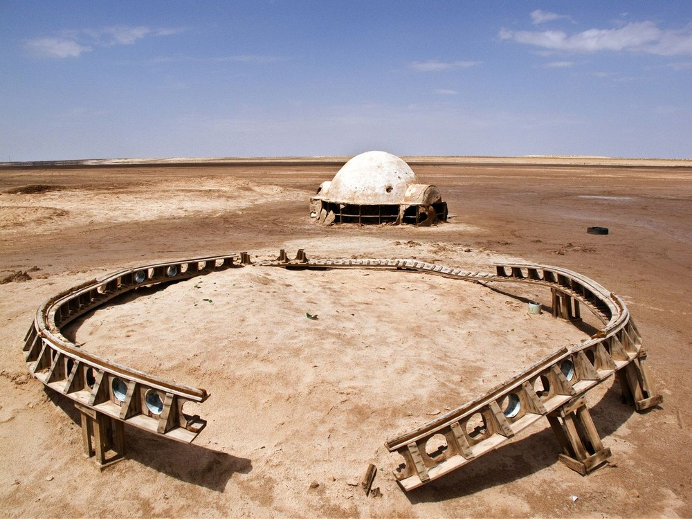 Abandoned Stars Wars Sets in the Desert