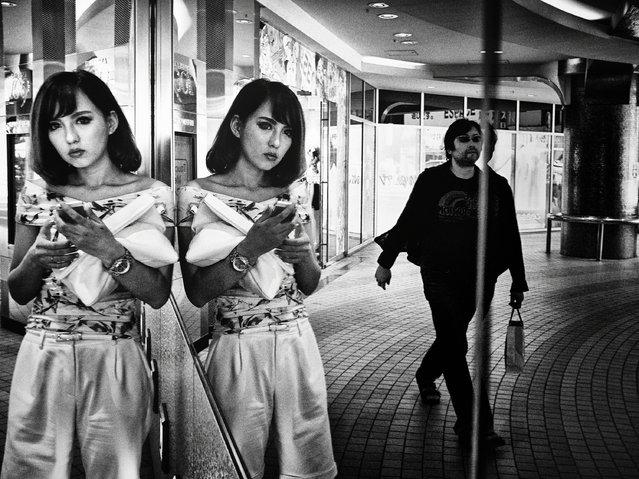 Mirror, Shibuya, Tokyo, 2014, by Tatsuo Suzuki. (Photo by Tatsuo Suzuki/Beetles+Huxley & Osborne Samuel)