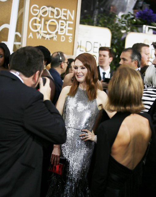 Actress Julianna Moore arrives at the 72nd Golden Globe Awards in Beverly Hills, California January 11, 2015. (Photo by Danny Moloshok/Reuters)