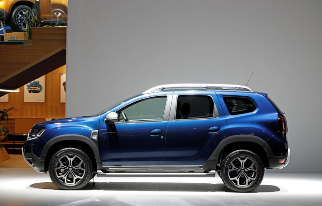 The new Dacia Duster is on display at the Auto show in Paris, France, Tuesday, October 2, 2018, 2018. (Photo by Benoit Tessier/Reuters)