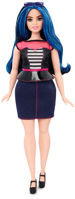 This photo provided by Mattel shows a new, curvy Barbie Fashionista doll introduced in January 2016. Mattel, the maker of the famous plastic doll, said it will start selling Barbie's in three new body types: tall, curvy and petite. She'll also come in seven skin tones, 22 eye colors and 24 hairstyles. (Photo by Mattel via AP Photo)