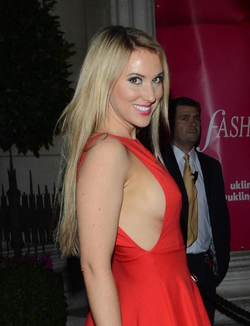 Rebecca Ferdinando arriving at the 2013 Lingerie Awards at Freemasons Hall in London, UK, on December 04, 2013. (Photo by INFphoto.com/LaPresse)