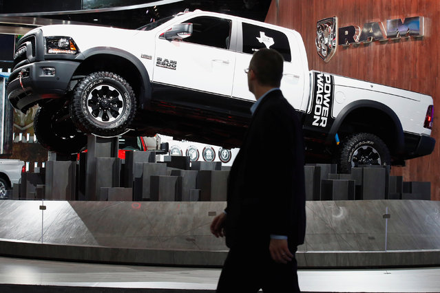 The Dodge Ram pickup truck is displayed during the North American International Auto Show in Detroit, Michigan, U.S., January 10, 2017. (Photo by Brendan McDermid/Reuters)