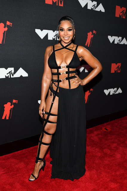 American singer Ashanti attends the 2021 MTV Video Music Awards at Barclays Center on September 12, 2021 in the Brooklyn borough of New York City. (Photo by Noam Galai/Getty Images for MTV/ViacomCBS)