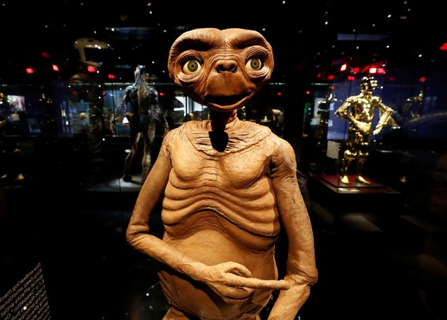 """A model from """"E.T. The Extra-Terrestrial"""" is pictured during a media preview ahead of the opening of the Academy Museum of Motion Pictures in Los Angeles, California, U.S., September 21, 2021. (Photo by Mario Anzuoni/Reuters)"""