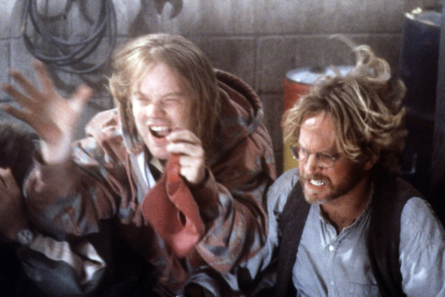 """""""Twister"""", Philip Seymour Hoffman, Scott Thomson, 1996. (Photo by Warner Brothers/Everett Collection)"""