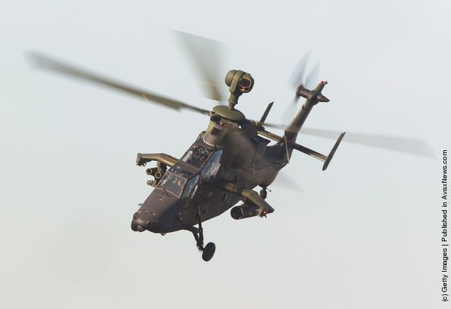 A Tiger atack helicopter of the Bundeswehr German armed forces