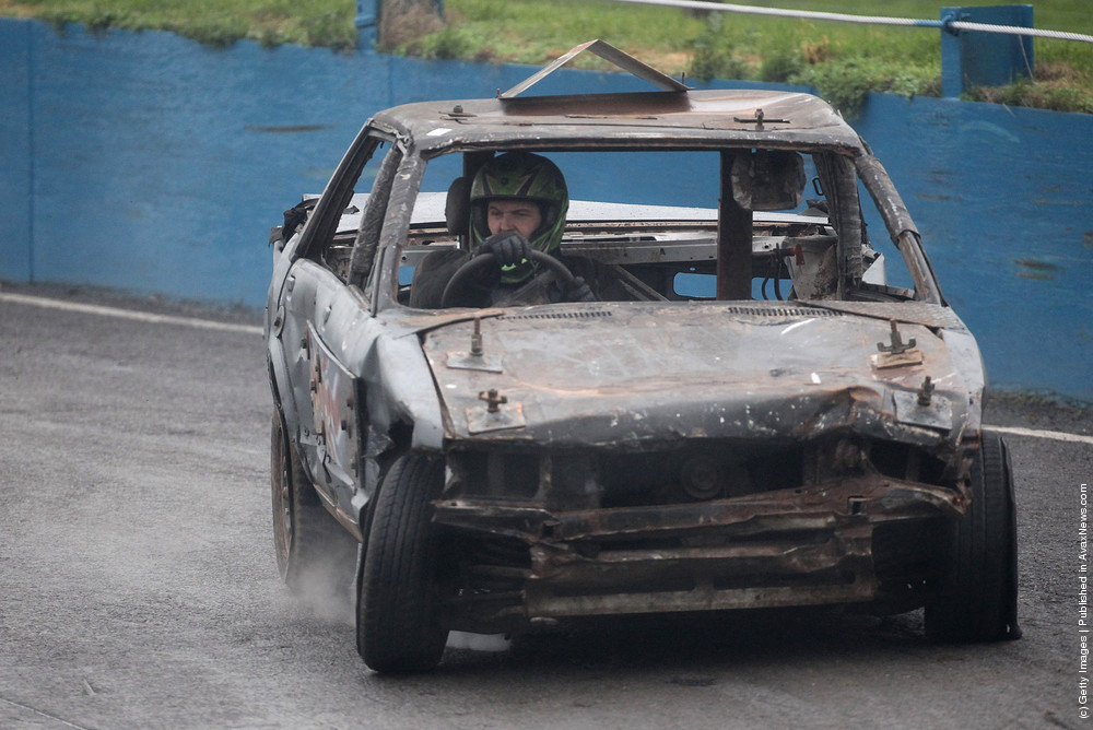 Banger Racers Gather For The Last Meet Of The Season