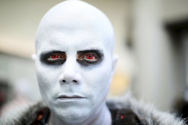 Alejandro Castillo dresses as White Walker from Game Of Thrones during the 2015 Comic-Con International in San Diego, California, July 9, 2015. (Photo by Sandy Huffaker/Reuters)