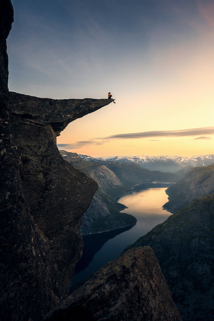 On the Brink by Guilherme Gomes de Mesquita, Brazil: Trolltunga in Norway. Third place – landscape. (Photo by Guilherme Gomes de Mesquita/The Nature Conservancy Global Photo Contest 2019)