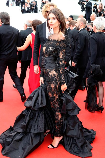 "Model Emily Ratajkowski attends the ""Loveless (Nelyubov)"" screening during the 70th annual Cannes Film Festival at Palais des Festivals on May 18, 2017 in Cannes, France. (Photo by Gisela Schober/Getty Images)"