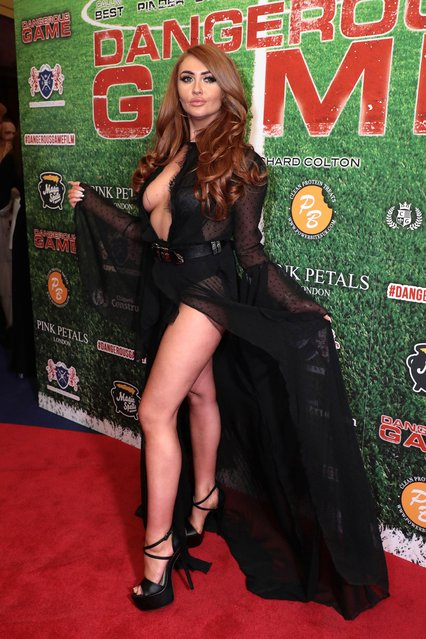 """Charlotte Dawson showed off her legs at the """"Dangerous Game"""" premiere in London, UK on June 15, 2017. (Photo by James Shaw/Rex Features/Shutterstock)"""