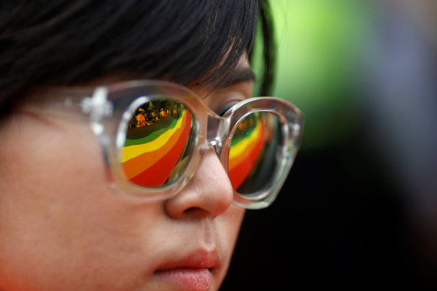 A participant takes part in the Korea Queer Culture Festival 2016 in central Seoul, South Korea, June 11, 2016. (Photo by Kim Hong-Ji/Reuters)