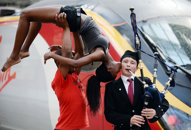 Commonwealth dance group on the right track with Virgin Trains – Photo call at Glasgow Central Station. (Photo by Daily Record)