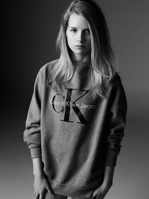 Lottie Moss for Calvin Klein: Lottie makes her Calvin Klein debut 21 years after Kate made hers. (Photo by Michael Avedon)