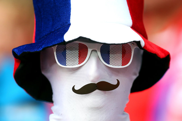 A France fan looks on during the UEFA Euro 2016 Group A match between the Switzerland and France at Stade Pierre-Mauroy on June 19, 2016 in Lille, France. (Photo by Chris Brunskill Ltd/Getty Images)