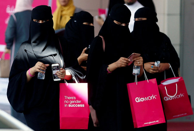 Women take part in Glowork exhibition in Riyadh, September 28, 2017. (Photo by Faisal Al Nasser/Reuters)