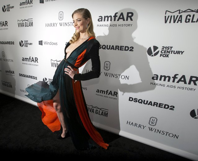 Actress Jaime King poses at the 2015 amfAR Inspiration Gala in Los Angeles, California October 29, 2015. amfAR's sixth annual gala benefits AIDS research. (Photo by Mario Anzuoni/Reuters)