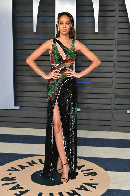 Joan Smalls attends the 2018 Vanity Fair Oscar Party hosted by Radhika Jones at Wallis Annenberg Center for the Performing Arts on March 4, 2018 in Beverly Hills, California. (Photo by Dia Dipasupil/Getty Images)