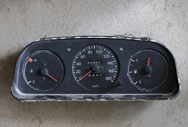 A speedometer is seen at a driving school in Kabul August 16, 2014. (Photo by Mohammad Ismail/Reuters)
