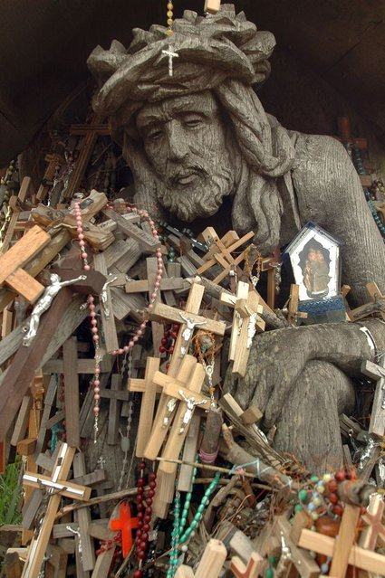 A symbol of religious devotion became an act of defiance during the Soviet era, when communist Russia's KGB bulldozed the area—twice. (Photo by Richard Gardner/Rex USA)