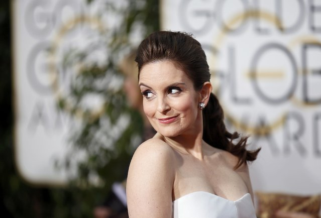 Show host Tina Fey arrives at the 72nd Golden Globe Awards in Beverly Hills, California January 11, 2015. (Photo by Danny Moloshok/Reuters)