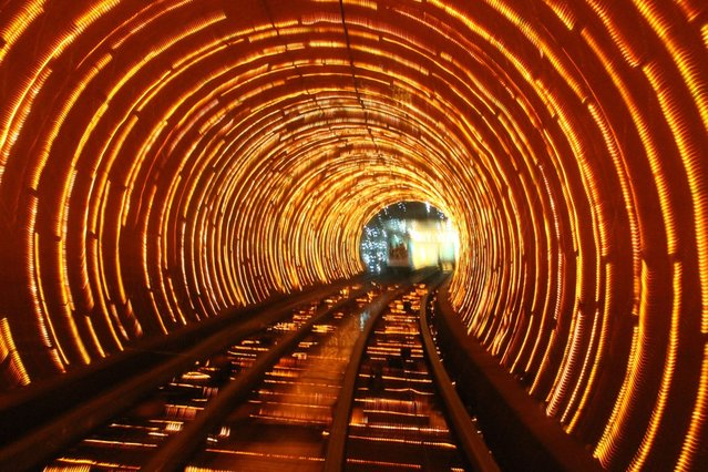 The Bund Sightseeing Tunnel In Shanghai