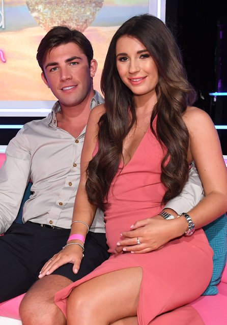 "UK Love Island champ Dani Dyer, 22,  and Jack Fincham attend ""Love Island: The Reunion"" TV show in London, UK on August 5, 2018. (Photo by Jonathan Hordle/ITV/Rex Features/Shutterstock)"