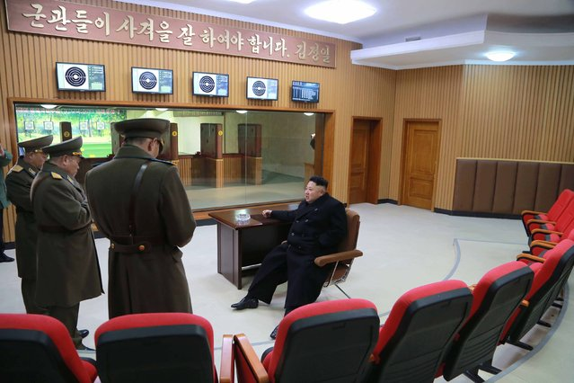 North Korean leader Kim Jong Un inspects the command of the Air and Anti-Air Force of the Korean People's Army (KPA) in this undated photo released by North Korea's Korean Central News Agency (KCNA) in Pyongyang January 13, 2015. (Photo by Reuters/KCNA)