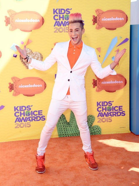 Actor Frankie J. Grande attends Nickelodeon's 28th Annual Kids' Choice Awards held at The Forum on March 28, 2015 in Inglewood, California. (Photo by Jason Merritt/Getty Images)