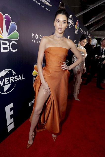 Kendall Jenner seen at Universal, NBC, Focus Features, E! Entertainment Golden Globes After Party Sponsored by Chrysler on Sunday, January 8, 2017, in Beverly Hills, Calif. (Photo by Eric Charbonneau/Invision for Focus Features/AP Images)