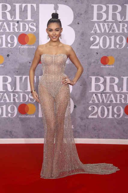 Singer Madison Beer poses for photographers upon arrival at the Brit Awards in London, Wednesday, February 20, 2019. (Photo by Joel C. Ryan/Invision/AP Photo)