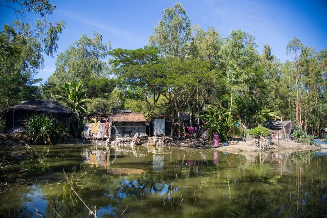 A flooded village in Ali Akbar Dale that was hit by a storm surge. Bangladesh is ranked among the most climate vulnerable nations in the world, according to the Intergovernmental Panel on Climate Change. (Photo by Noor Alam/Majority World)